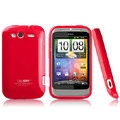 Boostar TPU soft skin cases covers for HTC Wildfire S A510e G13 - Rose