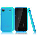 Boostar TPU soft skin cases covers for Samsung i9000 Galaxy S i9001 - Blue