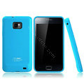 Boostar TPU soft skin cases covers for Samsung i9100 i9108 i9188 Galasy S2 - Blue