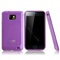 Boostar TPU soft skin cases covers for Samsung i9100 i9108 i9188 Galasy S2 - Purple