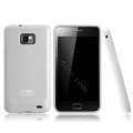 Boostar TPU soft skin cases covers for Samsung i9100 i9108 i9188 Galasy S2 - White