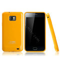 Boostar TPU soft skin cases covers for Samsung i9100 i9108 i9188 Galasy S2 - Yellow