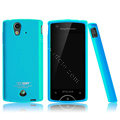 Boostar TPU soft skin cases covers for Sony Ericsson Xperia ray ST18i - Blue
