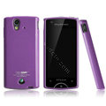 Boostar TPU soft skin cases covers for Sony Ericsson Xperia ray ST18i - Purple