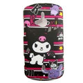 Cartoon Kuromi Scrub Hard Cases Covers for Sony Ericsson WT19i - Red