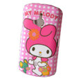 Cartoon Miffy Scrub Hard Cases Covers for Sony Ericsson WT19i - Rose