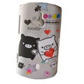 Cartoon Monokuro Boo Scrub Hard Cases Covers for Sony Ericsson WT19i - Gray