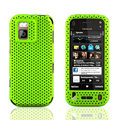 Front and Back Mesh Cases Skin Covers for Nokia N97 mini - Green