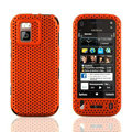 Front and Back Mesh Cases Skin Covers for Nokia N97 mini - Orange