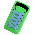 ISHOES Yellow Shoelace Silicone Cases Covers for iPhone 4G/4S - Green