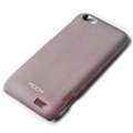 ROCK Quicksand hard skin cases covers for HTC ONE V Primo T320e - Purple