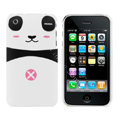 Cartoon Couple Panda Hard Cases Skin Covers for iPhone 3G/3GS - Pink