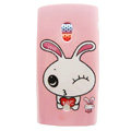 Cartoon Love Rabbit Hard Cases Skin Covers for Sony Ericsson X10i X10 - Pink