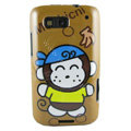 Cartoon Monkicni Hard Cases Covers for Motorola Defy ME525 MB525 - Brown