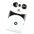 Cartoon Panda Hard Cases Covers for HTC Sensation XL Runnymede X315e G21 - Black