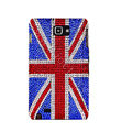 Bling British flag S-warovski Crystals Cases Covers For Samsung Galaxy Note i9220 N7000 - Red