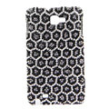 Bling Leopard S-warovski Crystals Cases Covers For Samsung Galaxy Note i9220 N7000 - Black