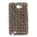 Bling Leopard S-warovski Crystals Cases Covers For Samsung Galaxy Note i9220 N7000 - Brown