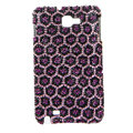 Bling Leopard S-warovski Crystals Cases Covers For Samsung Galaxy Note i9220 N7000 - Purple