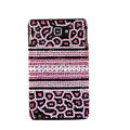 Bling Leopard S-warovski Crystals Cases Skin Covers For Samsung Galaxy Note i9220 N7000 - Pink