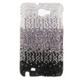 Bling S-warovski Crystals Cases Covers For Samsung Galaxy Note i9220 N7000 - Gradient Black