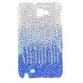 Bling S-warovski Crystals Cases Covers For Samsung Galaxy Note i9220 N7000 - Gradient Blue