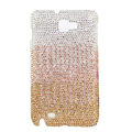 Bling S-warovski Crystals Cases Covers For Samsung Galaxy Note i9220 N7000 - Gradient Gold