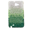 Bling S-warovski Crystals Cases Covers For Samsung Galaxy Note i9220 N7000 - Gradient Green