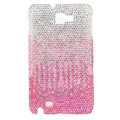 Bling S-warovski Crystals Cases Covers For Samsung Galaxy Note i9220 N7000 - Gradient Pink