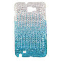 Bling S-warovski Crystals Cases Covers For Samsung Galaxy Note i9220 N7000 - Gradient Sky-blue
