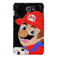 Bling Super Mario S-warovski Crystals Cases Covers For Samsung Galaxy Note i9220 N7000 - Red