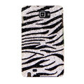 Bling Zebra S-warovski Crystals Cases Covers For Samsung Galaxy Note i9220 N7000 - Black