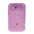 TPU Soft Skin Silicone Cases Covers for HTC Wildfire S A510e G13 - Purple