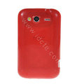 TPU Soft Skin Silicone Cases Covers for HTC Wildfire S A510e G13 - Red