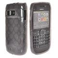 TPU Soft Skin Silicone Cases Covers for Nokia E6 - Black
