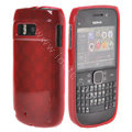 TPU Soft Skin Silicone Cases Covers for Nokia E6 - Red