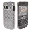 TPU Soft Skin Silicone Cases Covers for Nokia E6 - White