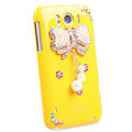 Bling Bowknot Crystals Cases Covers for HTC Sensation XL Runnymede X315e G21 - Yellow