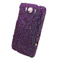 Bling Crystals Cases Diamond Covers for HTC Sensation XL Runnymede X315e G21 - Purple