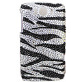 Bling Zebra Crystals Cases Covers for HTC Sensation XL Runnymede X315e G21 - Black
