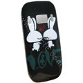 Cartoon Love Rabbit Hard Cases Skin Covers for Nokia C7 C7-00 - Black