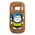 Cartoon Monkicni Hard Cases Skin Covers for Nokia C7 C7-00 - Brown