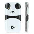 Cartoon Panda Hard Cases Skin Covers for Samsung Galaxy Ace S5830 i579 - Black
