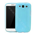 Nillkin Scrub TPU Soft Cases Skin Covers for Samsung I9300 Galaxy SIII S3 - Blue