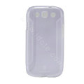 Nillkin Scrub TPU Soft Cases Skin Covers for Samsung I9300 Galaxy SIII S3 - Transparent white