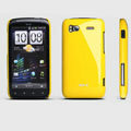 ROCK Colorful Glossy Cases Skin Covers for HTC Sensation 4G Z710e Z715e G14 G18 - Yellow