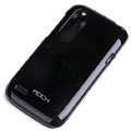 ROCK Colorful Glossy Cases Skin Covers for HTC T328W Desire V - Black