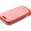 ROCK Colorful Glossy Cases Skin Covers for HTC Ville One S Z520E - Red