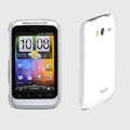 ROCK Colorful Glossy Cases Skin Covers for HTC Wildfire S A510e G13 - White