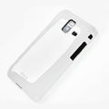 ROCK Colorful Glossy Cases Skin Covers for Samsung S7250 Wave M - White